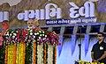 The Prime Minister, Shri Narendra Modi addressing the public meeting, at Dabhoi, Gujarat on September 17, 2017.jpg