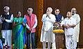 The Prime Minister, Shri Narendra Modi at the dedication ceremony of the 'Statue of Unity' to the Nation, on the occasion of the Rashtriya Ekta Diwas, at Kevadiya, in Narmada District of Gujarat on October 31, 2018.JPG