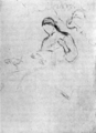 The School and Society - Drawing of a Girl Spinning.png