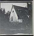 The Tarvaspää atelier house pictured from the southwest in June 1914, right-hand of a stereoscopic photograph (34989847916).jpg