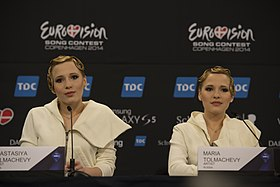 The Tolmachevy Sisters, ESC2014 Meet & Greet 09.jpg