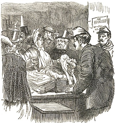The brutes searched Mrs. Caudle's basket at the Custom House.jpg