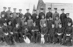 RAF Upavon - Members and staff on the Central Flying School's first course at Upavon, late 1912