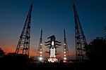 The fully integrated GSLV Mk-III-D1 carrying GSAT-19 at the second launch pad.jpg