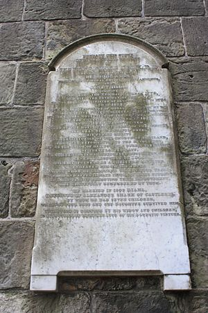 George Cook (Scottish minister) - The grave of Rev Prof George Cook inside St Rules Tower, St Andrews