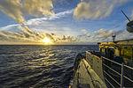 The guided missile cruiser USS Monterey (CG 61) travels in the Atlantic Ocean Jan. 2, 2014 140102-N-QL471-164.jpg