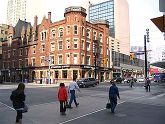 College Street (Toronto) - Northwest corner of Yonge and College Streets