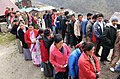 The voters queuing up at a polling booth in '15 miles', Tsomgo (Changu) lake, Sikkim during the third phase of General Election-2009 on April, 30, 2009.jpg