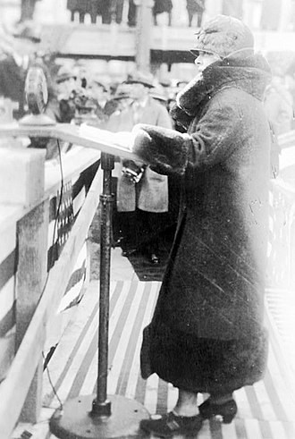 Theresa Helburn - Helburn at the laying of the cornerstone of the Guild Theatre in 1924