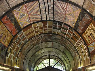 Tiwi Islands - Ceiling of a Tiwi Island art gallery and studio, 2011