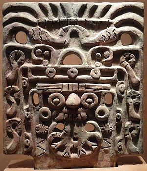 Mask of Tlaloc, nahua god of the rain (Nationa...
