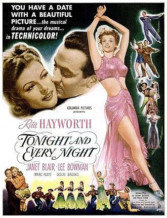 Tonight and Every Night - Advertisement (January 1945)