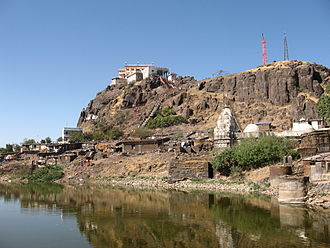 Champaner-Pavagadh Archaeological Park - View of Pavadagh Hill.