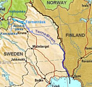 Torne (river) - Image: Tornealven