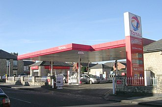 Total S.A. - A total filling station in Wetherby, West Yorkshire.