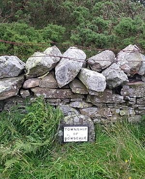 Township - Township boundary marker at Mungrisdale, Cumbria. The marker has been restored for historical purposes.