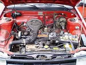 Transverse engine - Transversely mounted engine in Toyota Corolla EE80