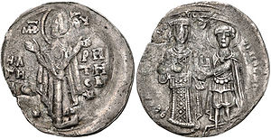Theodore Komnenos Doukas - Billon trachy coin of Theodore as Emperor of Thessalonica