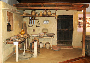 Pottery -  Pottery workshop reconstruction in the Museum of Traditional Crafts and Applied Arts, Troyan, Bulgaria