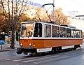 Tram in Sofia near St Nedelya Church 2012 PD 014.jpg
