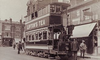 London United Tramways - Tramcar 13 in Boston Road on a Hanwell to Brentford journey