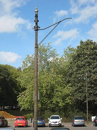 Roundhay - Redundant tram pylons in Roundhay