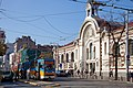 Trams in Sofia in front of Central Market Hall 2012 PD 030.jpg