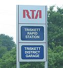 Triskett Cleveland RTA station sign.jpg