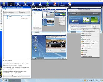 Trisquel - Trisquel LTSP classroom server, managed via iTALC.