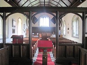 St. George, Conwy - Image: Tu fewn i Eglwys Llan San Sior inside St George, Abergele, North Wales 19