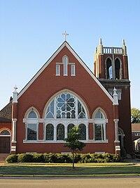 Tupelo MS historic First Methodist Church 412 Main Street.jpg