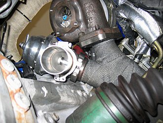 Wastegate - An external wastegate installed next to the turbocharger.