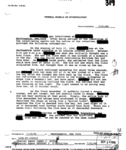 Example of a FBI witness statement summary, the name and address of informants have been blacked out to preserve their privacy.
