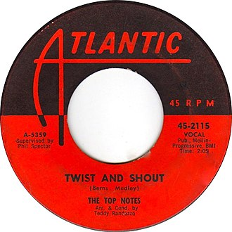 Twist and Shout - Image: Twist and Shout by The Top Notes B side US vinyl label
