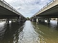Two Pacific Motorway bridges over Coomera River in Oxenford, Queensland.jpg