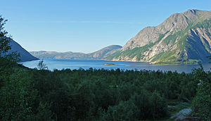 Tysfjorden - View of the Tysfjorden from Musken