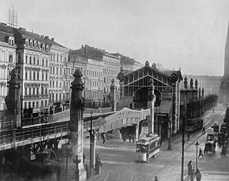 U1 (Berlin U-Bahn) - The Bülowstraße elevated station in 1903
