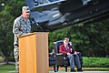 U.S. Air Force Col. Lamar Pettus, at podium, vice commander with the 4th Fighter Wing (FW), speaks during the 4th FW POW-MIA ceremony at Seymour Johnson Air Force Base, N.C., Sept 130923-F-YC840-119.jpg