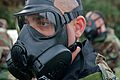 U.S. Marines, of III Marine Expeditionary Force, participate in chemical, biological, radiological and nuclear (CBRN) training where Marines conduct a series of tests while wearing their protective gear before 111222-M-LY681-025.jpg