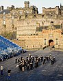 U.S. Navy Lt. David Latour, the band director and conductor during event, leads the U.S. Naval Forces Europe Band as it rehearses one of the songs it will play during the Edinburgh tattoo to be held outside 120730-N-VT117-742.jpg