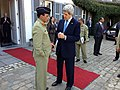 U.S. Secretary of State John Kerry bids farewell to Pakistani Chief of Army Staff General Ashfaq Kayani after their trilateral meeting with Afghan President Hamid Karzai in Brussels, Belgium, on April 24, 2013.jpg