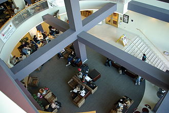 Adele H. Stamp Student Union - Atrium of Stamp Student Union, near the food court and co-op