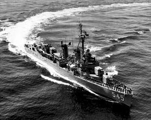 USS Bradford (DD-545) - Bradford in 1961.