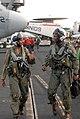 USS Ronald Reagan (CVN 76) - Cmdr. Darryl Walker and Lt. Vikram Kottaju- 081020-N-7730P-086.jpg
