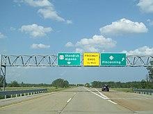 US Route In Michigan Wikipedia - Map of us 23 in michigan