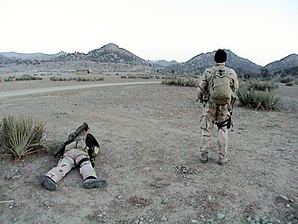 Special reconnaissance - US Navy SEALs conducting special reconnaissance on suspected Al-Qaida and Taliban locations in Afghanistan, 2002.