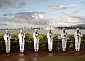 US Navy 031207-N-7833F-013 The Navy Region Hawaii Ceremonial Guard renders Honors during the USS O'kane (DDG 77) Pass in Review.jpg