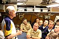 US Navy 050812-N-0653J-001 Former President Jimmy Carter addresses the crew of his namesake ship, the Sea Wolf-class attack submarine USS Jimmy Carter (SSN 23) in the crew's mess.jpg
