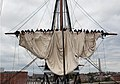 US Navy 070806-N-5690S-001 USS Constitution crew members practice setting and furling the ship's main topsail in preparation for the Chief Petty Officer selectee events held aboard every year during the last two weeks of.jpg