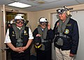 US Navy 070809-N-8704K-176 Peru's Minister of Interior Luis Castro, Minister of Health Carlos Vallejos and Minister of Defense Allen Tizon prepare to depart USNS Comfort.jpg